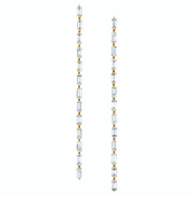Long baguette drop earrings