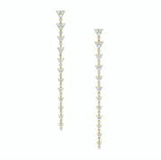 TRIANGLE ETERNITY DIAMOND DROP EARRINGS