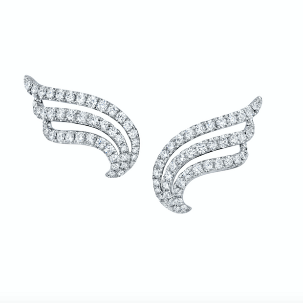 LARGE DIAMOND WAVE EARRINGS