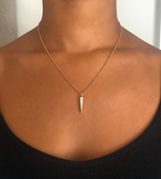 SMALL DIAMOND DAGGER NECKLACE