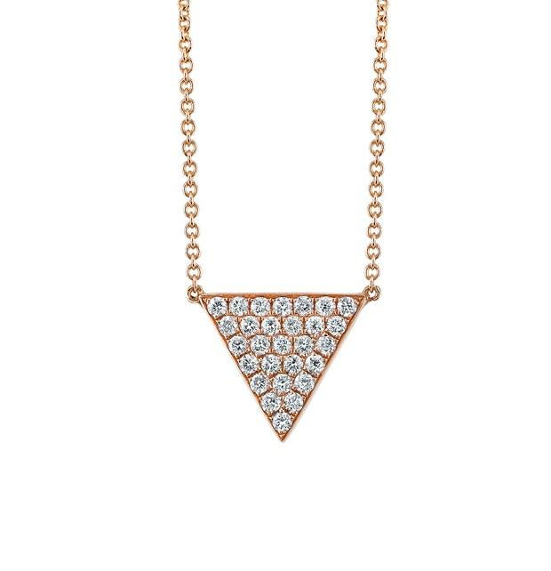 MEDIUM DIAMOND TRIANGLE NECKLACE