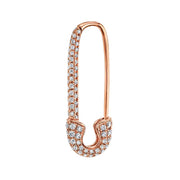 DIAMOND SAFETY PIN EARRING
