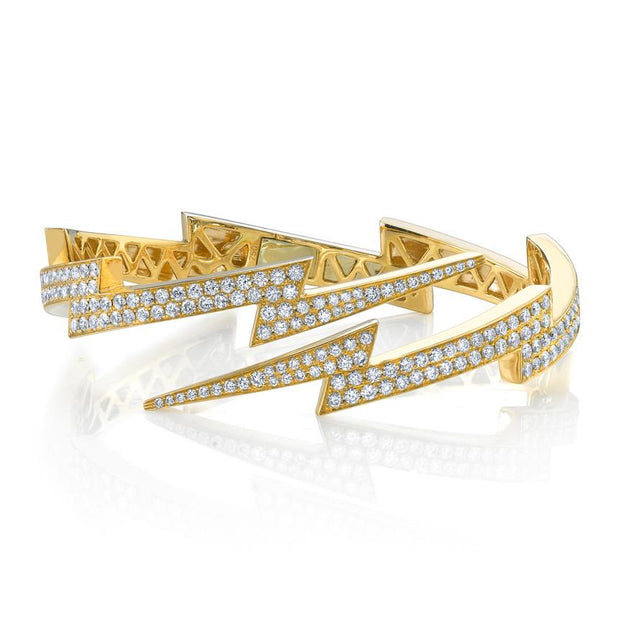 DIAMOND LIGHTNING BOLT CUFF
