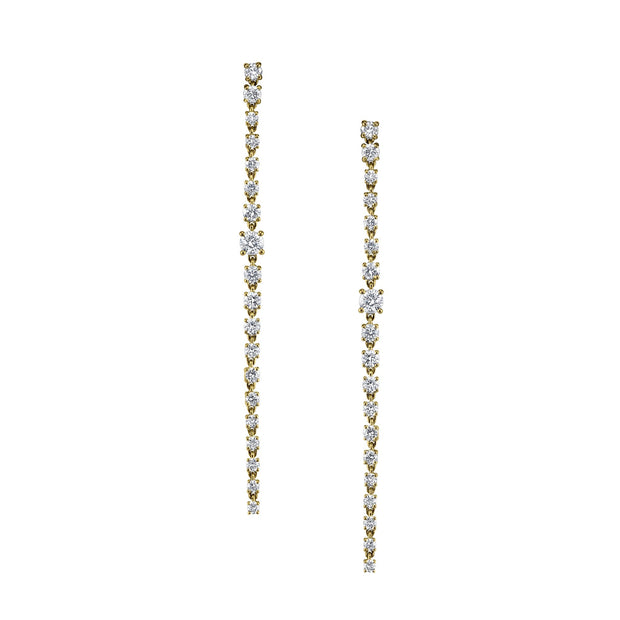 LONG DIAMOND ROPE EARRINGS