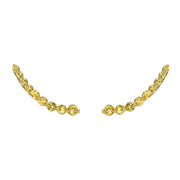 FLOATING YELLOW SAPPHIRE EARRING