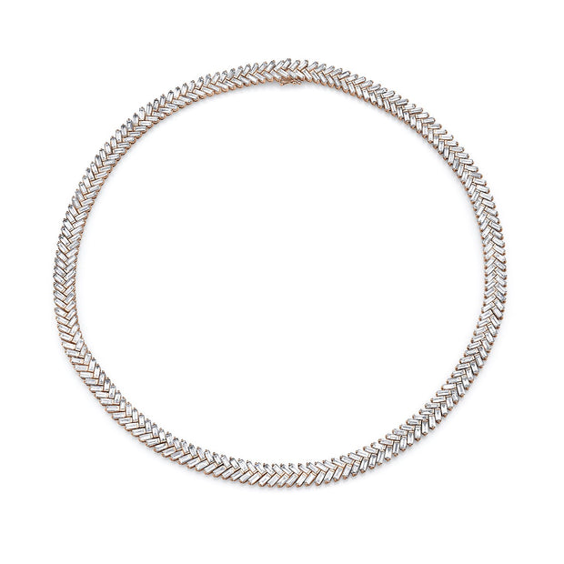 BAGUETTE DIAMOND ZIPPER CHOKER