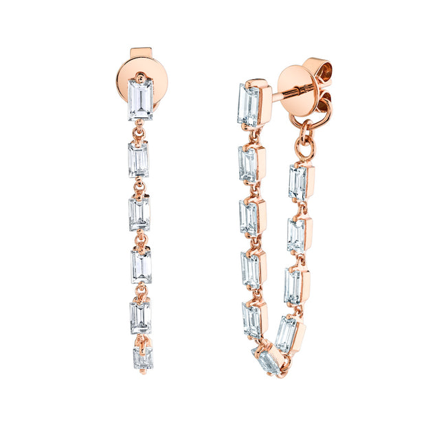 BAGUETTE DIAMOND LOOP EARRINGS