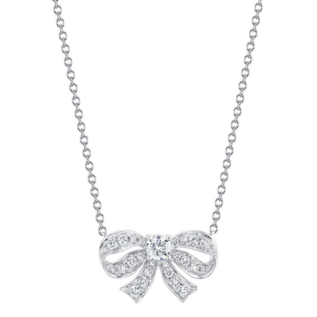 DIAMOND BOW NECKLACE