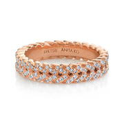 DIAMOND BRAIDED RING