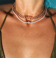 SMALL CHAIN LINK CHOKER