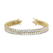 Zipper tennis bracelet