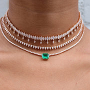 PEAR DIAMOND CHOKER