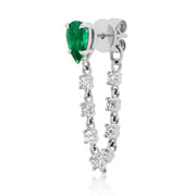 EMERALD PEAR LOOP EARRING