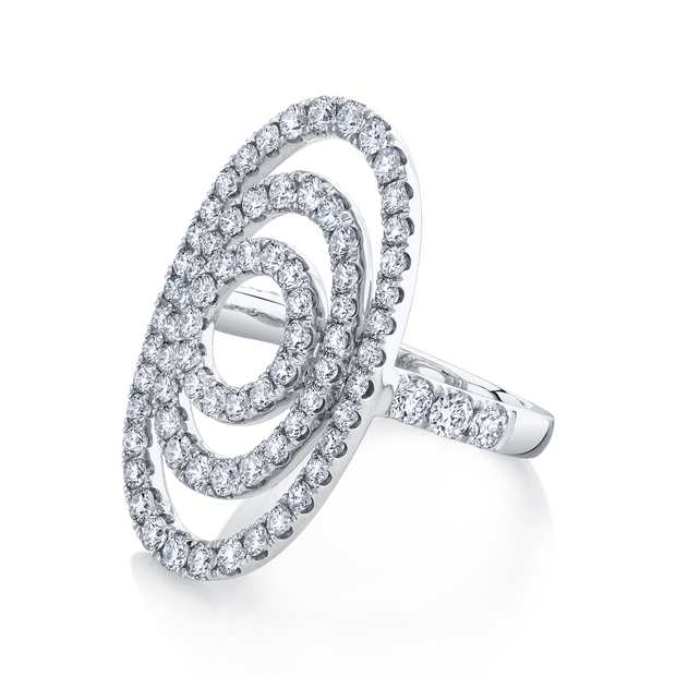 FLOATING DIAMOND OVAL RING
