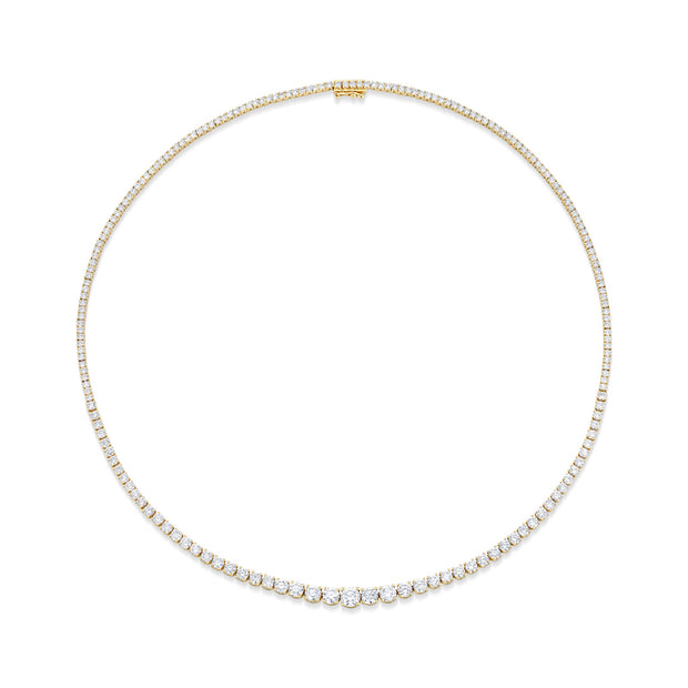 GRADUATED DIAMOND HEPBURN CHOKER 16""