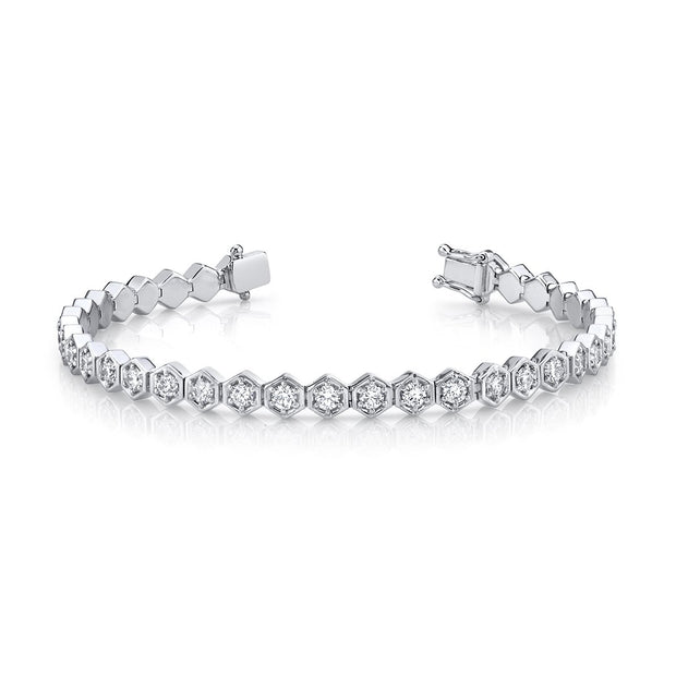 HONEYCOMB DIAMOND TENNIS BRACELET