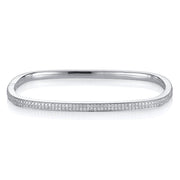 TWO-ROW DIAMOND SQUARE BANGLE