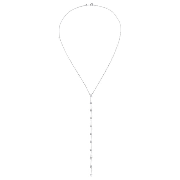 11 STONE PEAR DIAMOND LARIAT