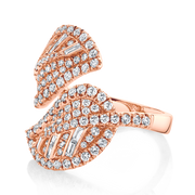 DIAMOND CLUSTER LEAF RING
