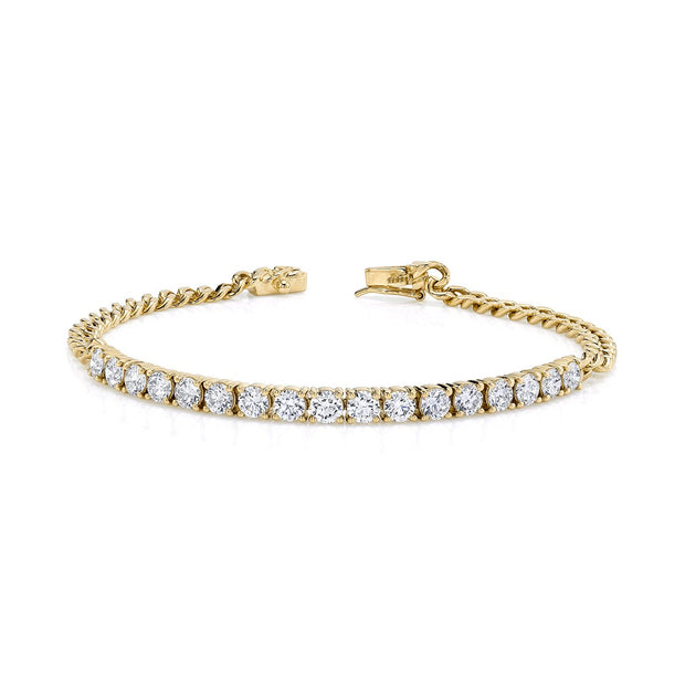 CHAIN LINK AND DIAMOND LINE BRACELET