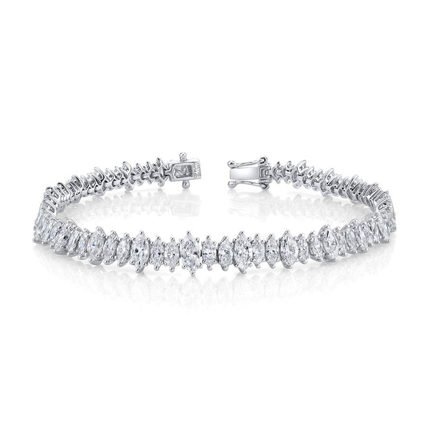 Marquis diamond tennis bracelet