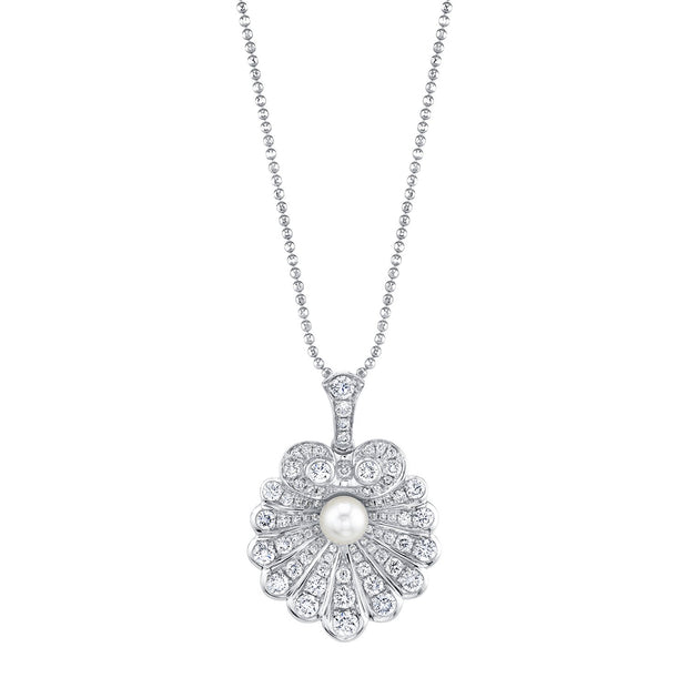 DIAMOND OYSTER AND PEARL NECKLACE