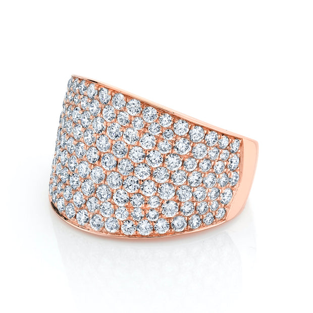 PAVE DIAMOND COMET RING