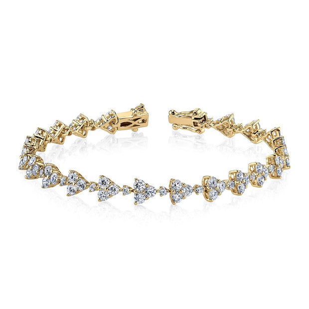 TRIANGLE ETERNITY DIAMOND BRACELET