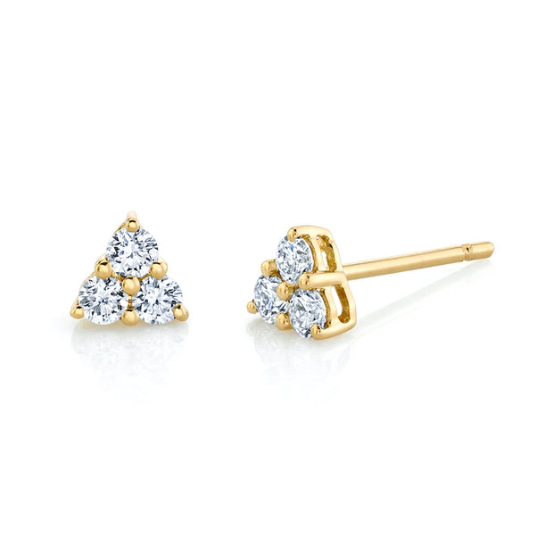 SMALL TRILLION DIAMOND STUDS