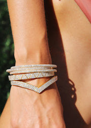 PAVE DIAMOND ZIG ZAG BANGLE