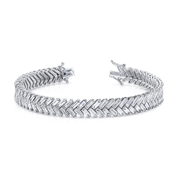 ZIPPER DIAMOND TENNIS BRACELET