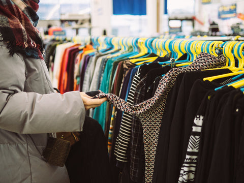 Thrifting clothes for sustainable fashion