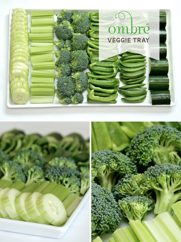 ombre veggie tray st patricks day party