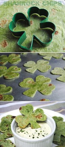 shamrock chips and dip