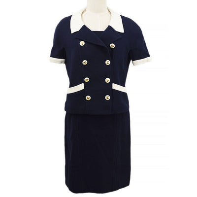 CHANEL #38 Setup One Piece Dress Jacket Navy
