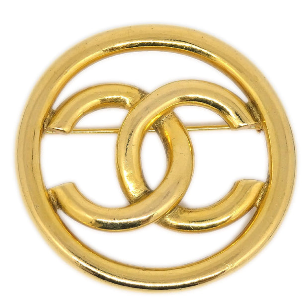 CHANEL Medallion Brooch Gold-Tone 93P 1270