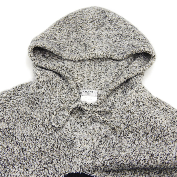 CHANEL 07A #52 Penguin Hoodie Sweater Gray