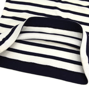 CHANEL #38 Striped Sleeveless Knit Tops White Navy