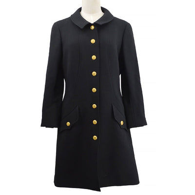 CHANEL 96A #42 Long Coat Black