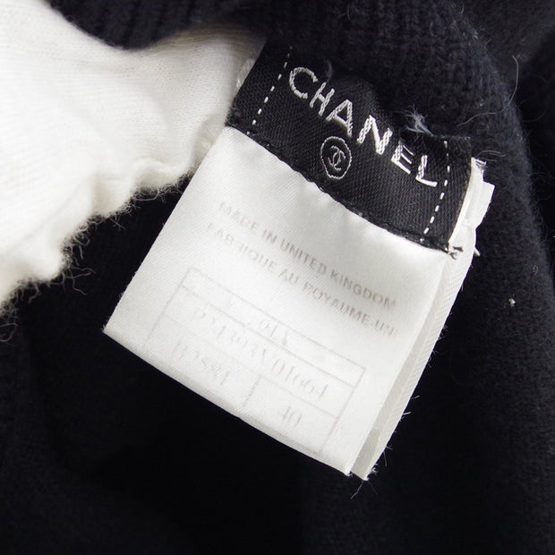 CHANEL 04A #40 Short Sleeve One Piece Dress Skirt Black