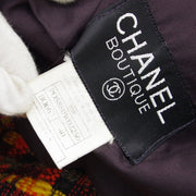 CHANEL 95A #40 Single Breasted Jacket Tweed Brown