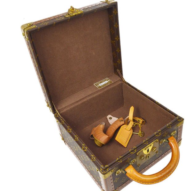 LOUIS VUITTON VINTAGE TRUNK HAND BAG MONOGRAM