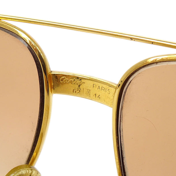 Cartier Reading Glasses Eye Wear Gold 62/14 Small Good