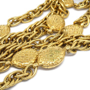 CHANEL Charm Gold Chain Pendant Necklace