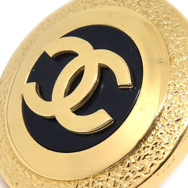 CHANEL Button Earrings Clip-On Gold 28
