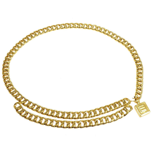 CHANEL Perfume Charm Gold Chain Belt 23 Small Good