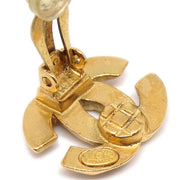CHANEL Earrings Clip-On Gold 99P