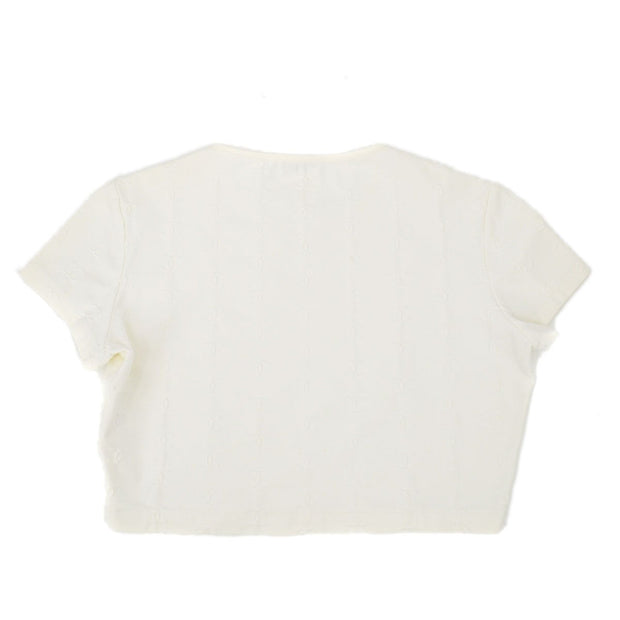 CHANEL Short T-Shirt White #42