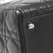 Christian Dior Lady Dior Cannage 2way Hand Shoulder Bag Black