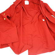 CHANEL Long Coat Red #38